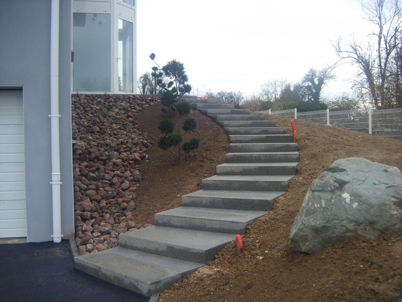 Escalier Beton Exterieur Prix création d'escalier en béton situé à perpignan 66000